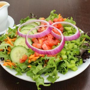 Garden salad from Pebbles Family Restaurant