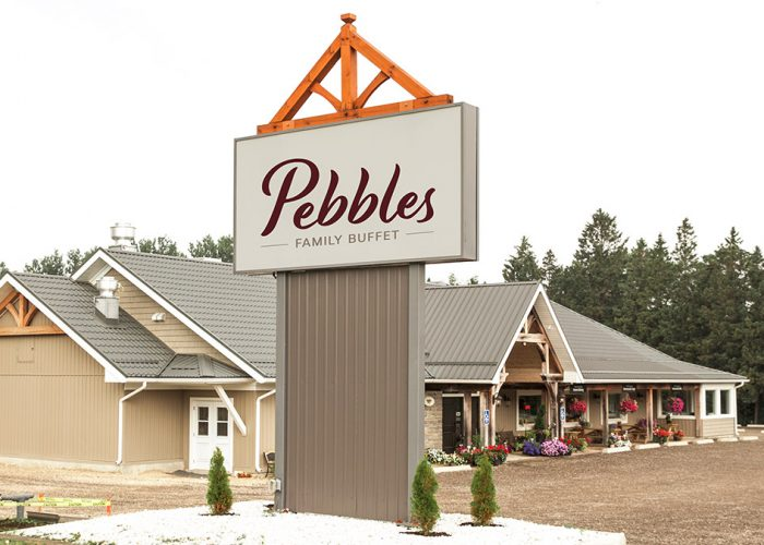 Exterior view of Pebbles Family Buffet